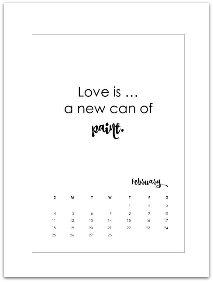 February 2018 Calendar Page Printable