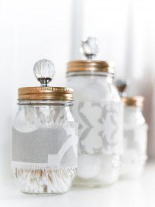 Mason Jar Cozies Bathroom Storage