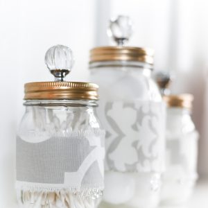 Mason Jar Cozies Bathroom Storage
