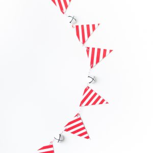 Candy Cane Christmas Bunting with Duck Tape