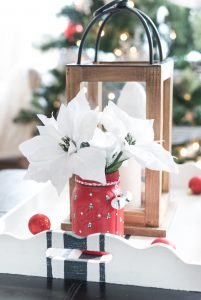 Christmas Tree Painted Mason Jar