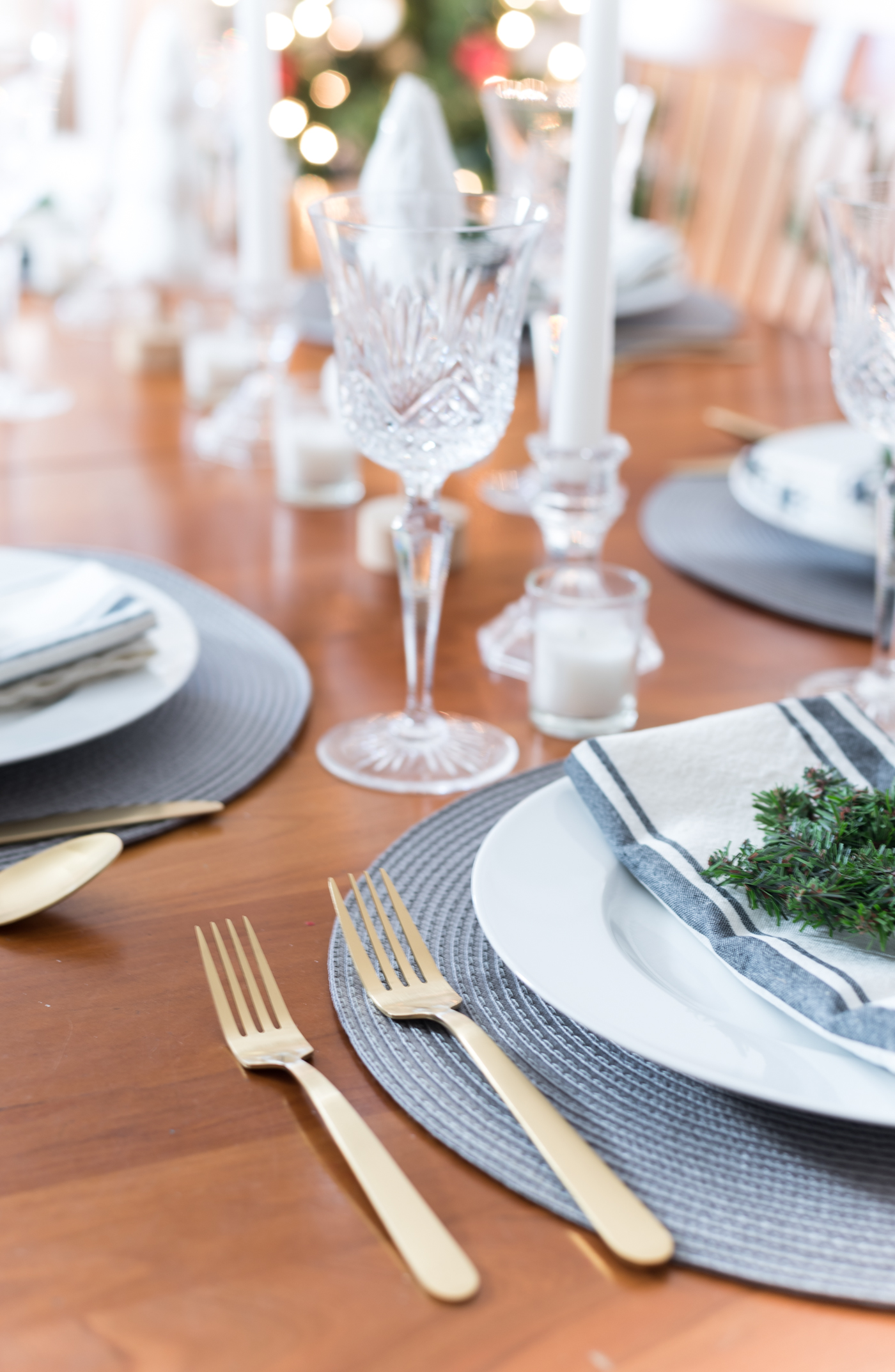 gold forks from target, gold flatware, holiday table with gold utensils