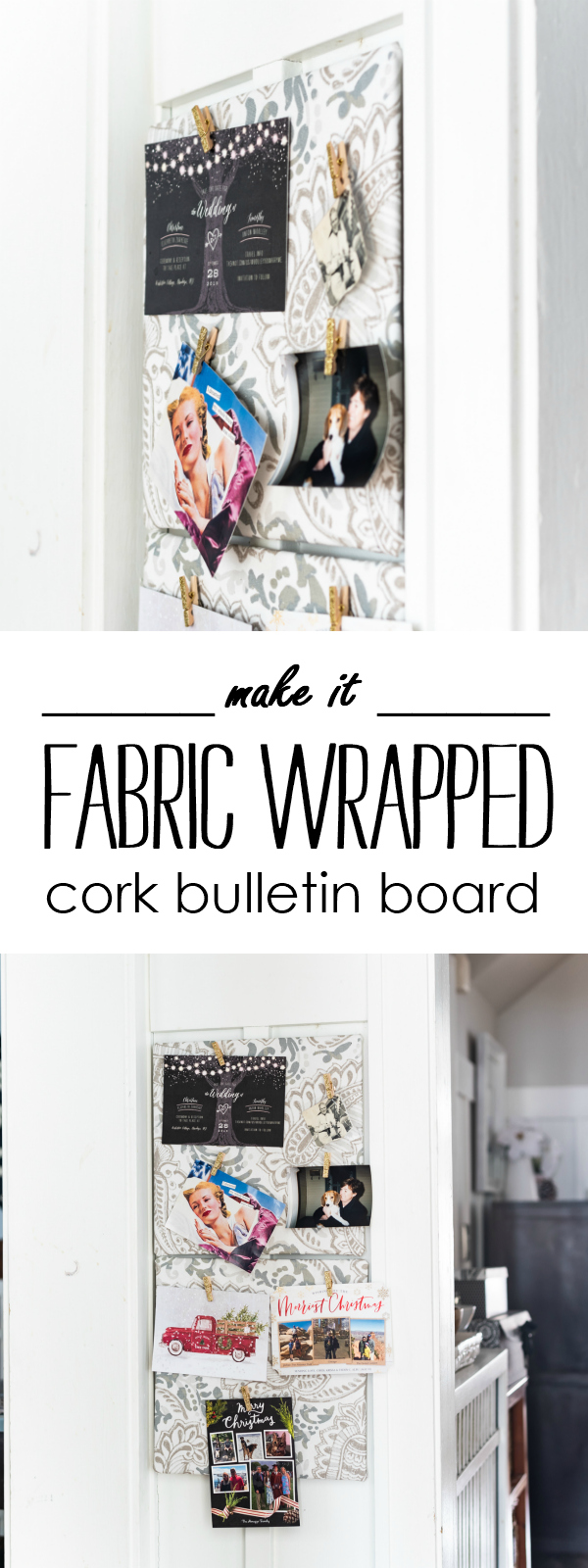 how to make fabric wrapped cork board