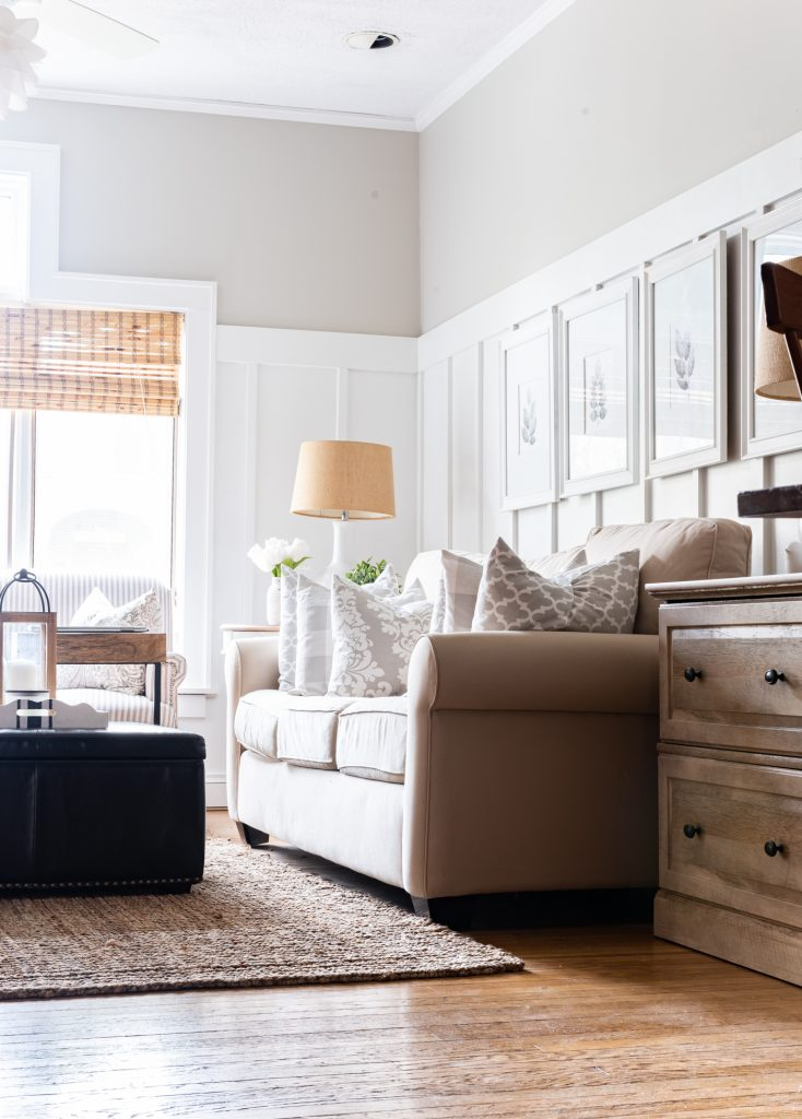 Neutral And Gray Living Room Makeover It All Started With Paint