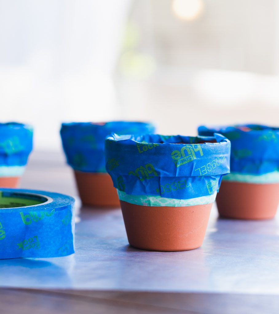 How to Make Succulent Place Card Holders with Mini Terracotta Pots Gold Dipped