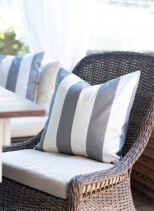 Cabana Stripe Gray & White Envelope Pillow Tutorial