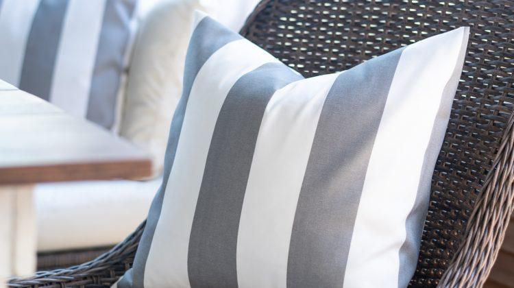 Cabana Gray & White Stripe Envelope Pillow Tutorial