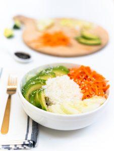 Vegetarian California (un)Roll Buddha Bowl Salad