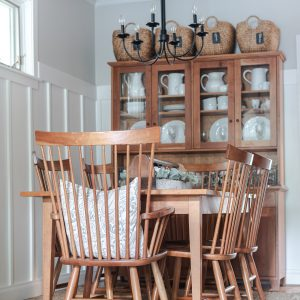 Gray, White Dining Room