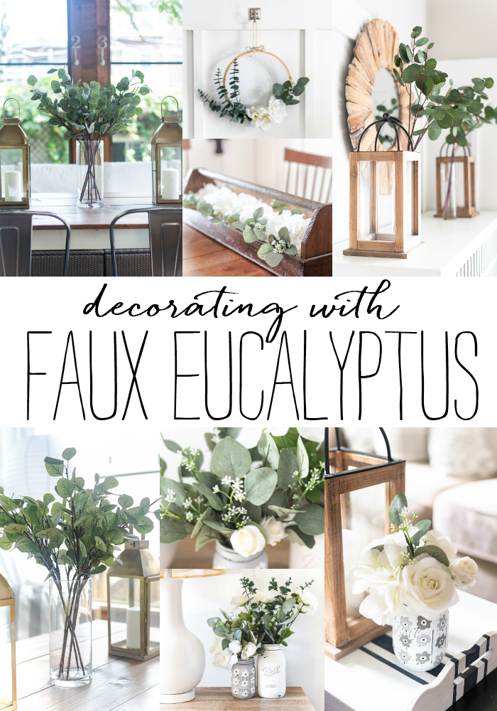 faux eucalyptus in decorating