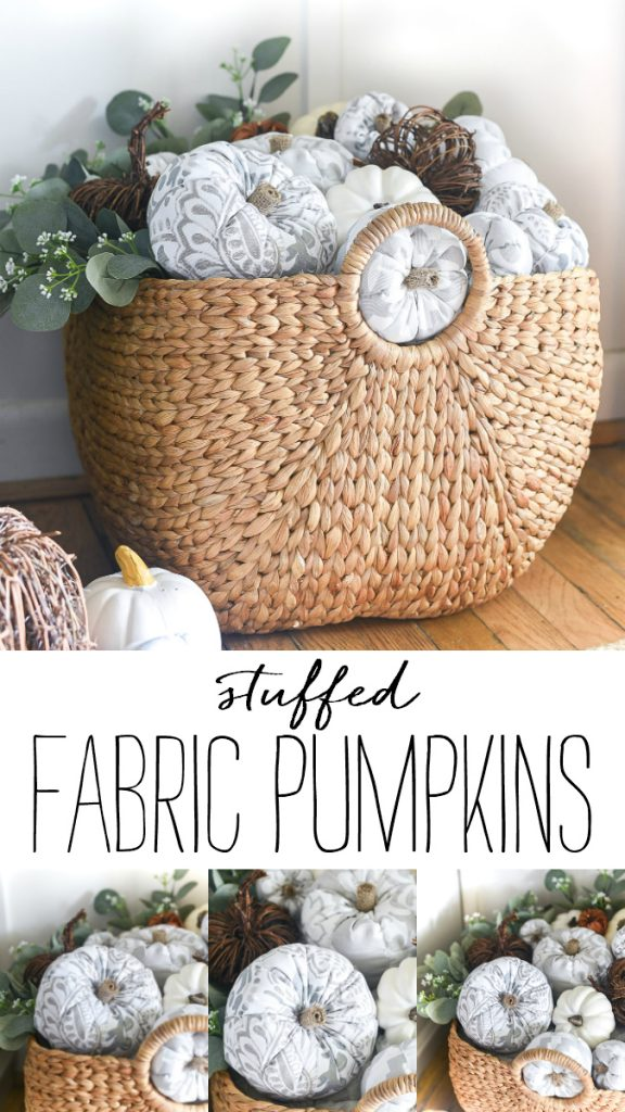 Fabric Pumpkins -Stuffed Pumpkins - DIY Fabric Pumpkins - How To Make Fabric Stuffed Pumpkins