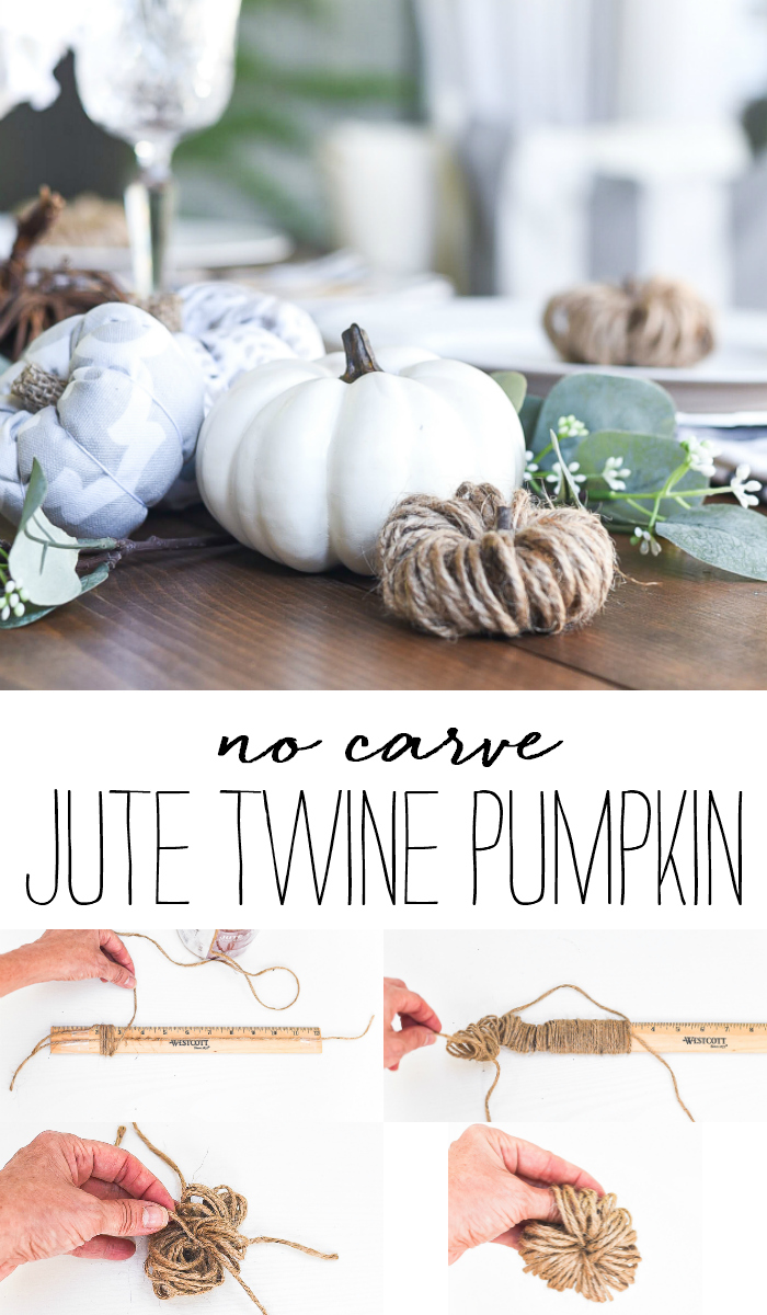 Jute Twine Pumpkins - No Carve Pumpkin Ideas - Fall Craft Ideas Using Jute - Fall Craft Ideas for Pumpkins
