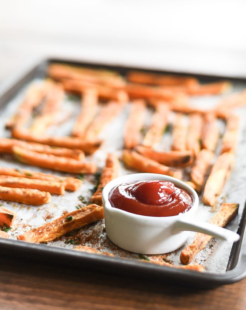 Sweet Potato Fries - Recipe on how to make Sweet Potato Fries.