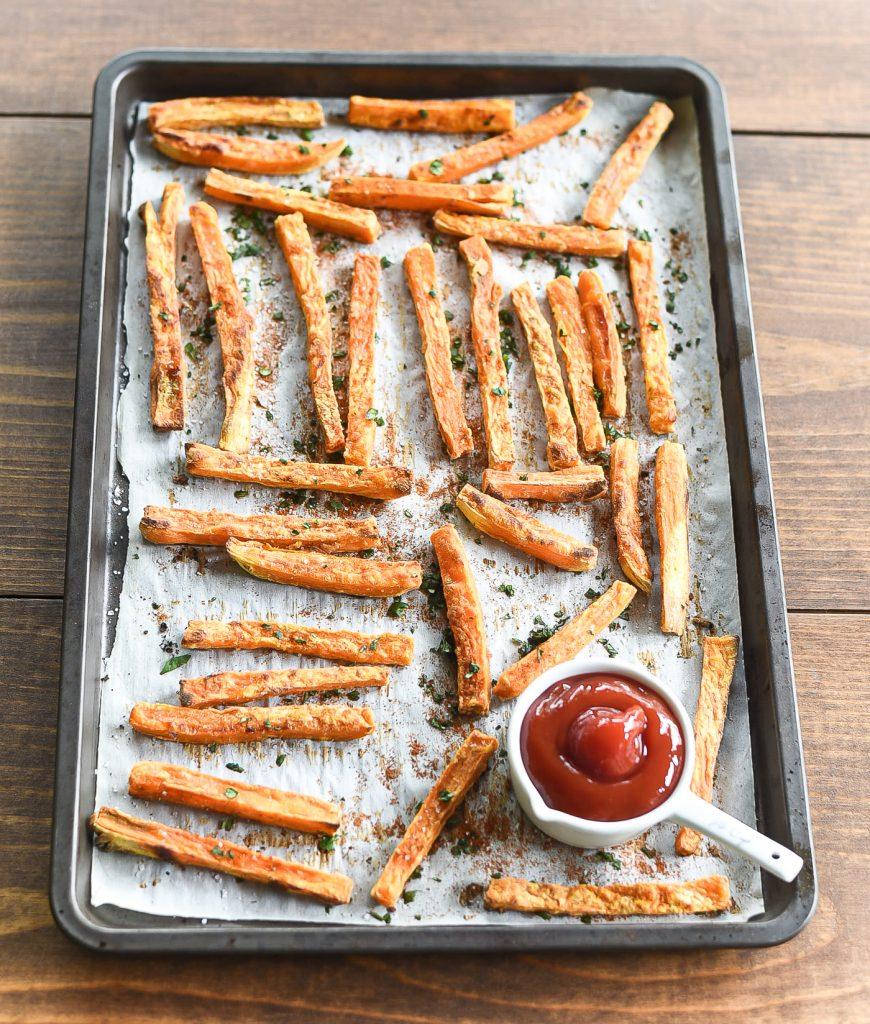 Sweet Potato Fries - Recipe on how to make Sweet Potato Fries.