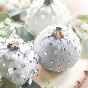 No Carve Jeweled Pumpkins