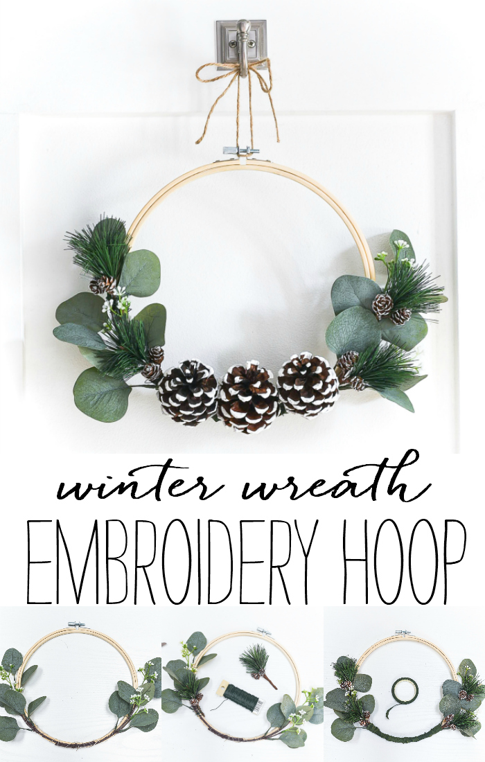 Embroidery Hoop Winter Wreath It All Started With Paint