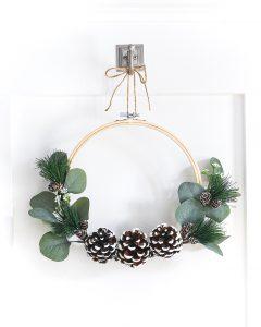Embroidery Hoop Winter Wreath