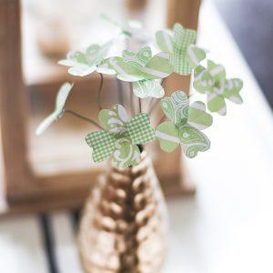 Paper Shamrock Bouquet