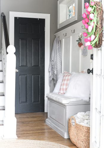 Spring Entry in Blush Pink & Gray