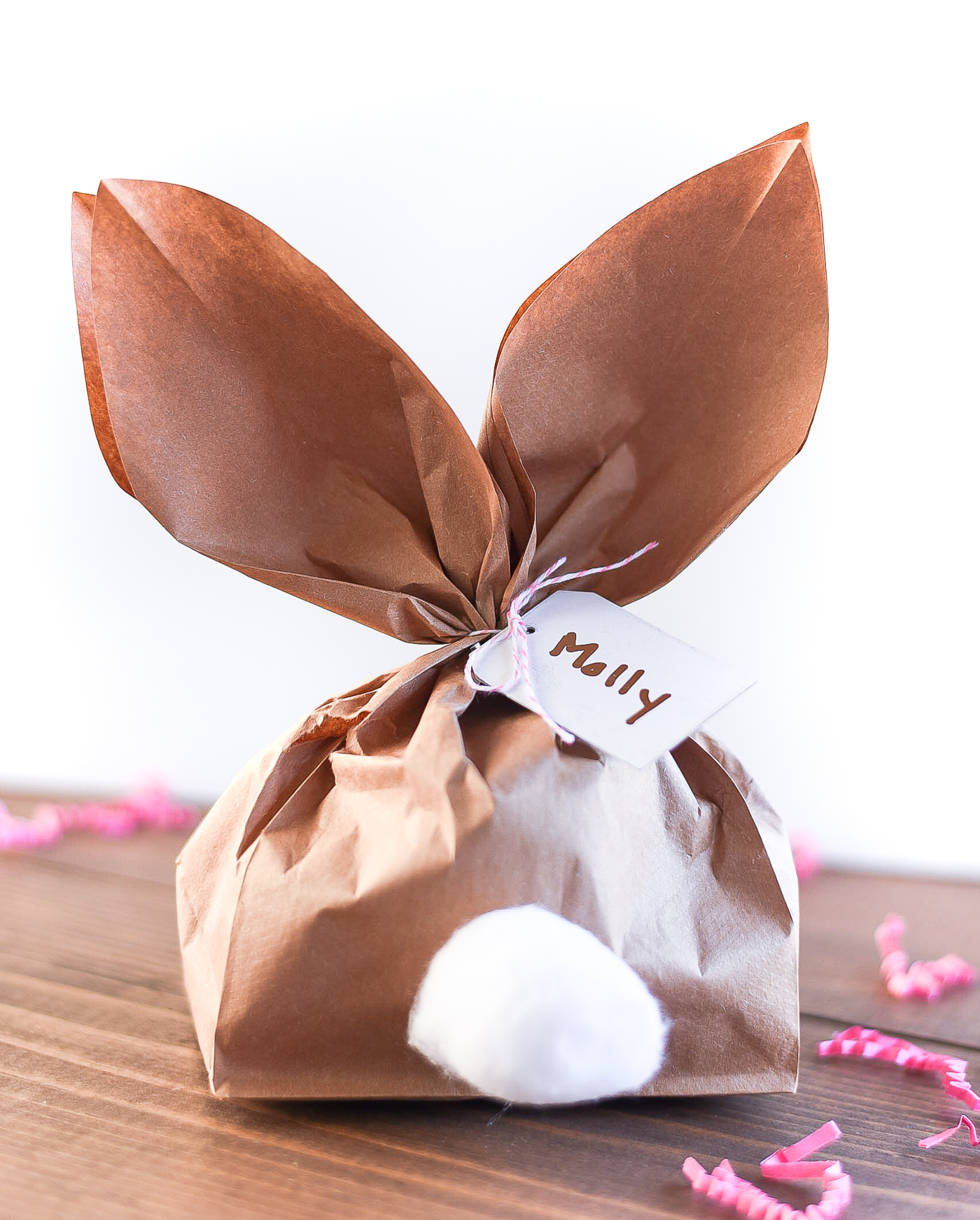 Paper Bag Bunny for Easter. Paper Bunny Ear Paper Bag Treat Bag. How to Make Bunny Ears from Paper Bag.
