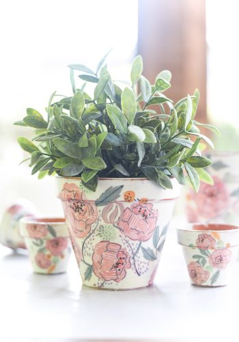 Decoupage Terracotta Pots