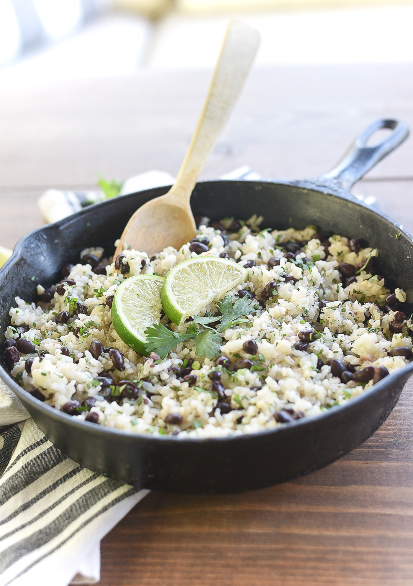 Cilantro & lime black beans and rice. Recipe. Rice and beans recipe. Spicy rice and beans recipe. Black beans recipe. Rice recipe. Easy rice and beans.
