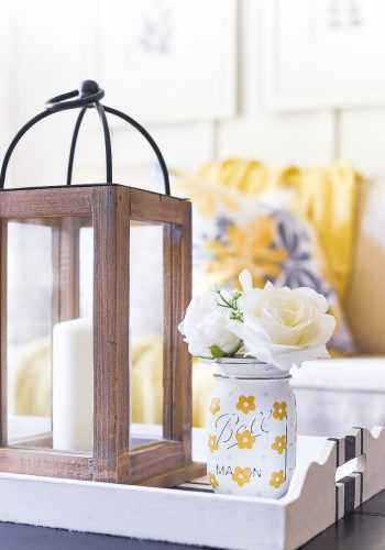 Yellow Daisies on Mason Jars