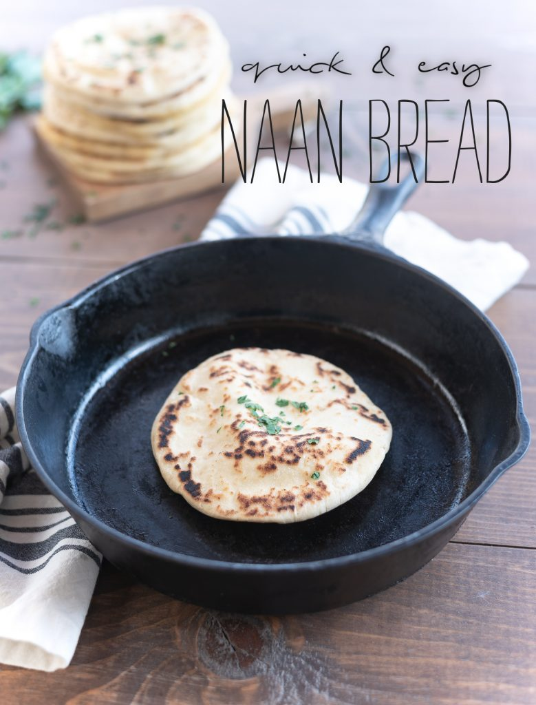 Naan Bread Recipe - Easy Naan Bread Recipe - Quick and easy Naan bread made in skillet.